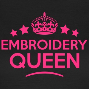 embroidery queen keep calm style WOMENS T-SHIRT - Women's T-Shirt