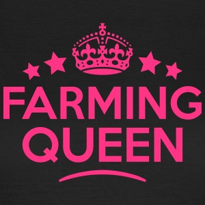 farming queen keep calm style WOMENS T-SHIRT - Women's T-Shirt