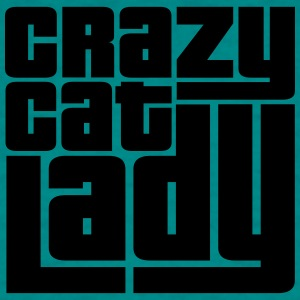 crazy cat lady crazy funny cat kitten love creepy  T-Shirts - Men's T-Shirt