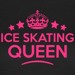 ice skating queen keep calm style WOMENS T-SHIRT - Women's T-Shirt
