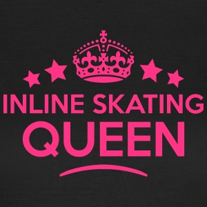 inline skating queen keep calm style cop WOMENS T- - Women's T-Shirt