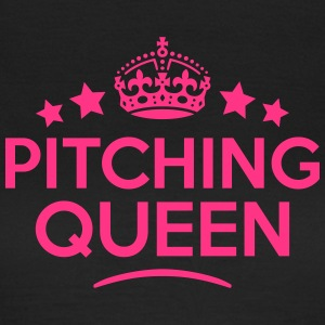 pitching queen keep calm style WOMENS T-SHIRT - Women's T-Shirt