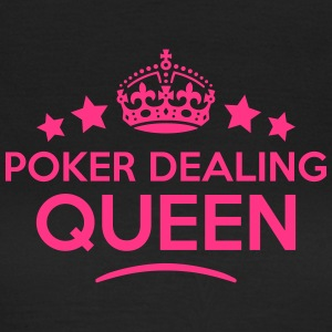 poker dealing queen keep calm style WOMENS T-SHIRT - Women's T-Shirt