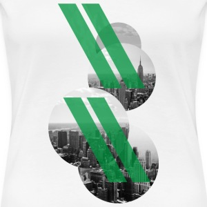 New York City - Stripes green T-Shirts - Frauen Premium T-Shirt