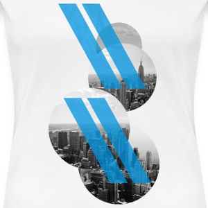 New York City - Stripes T-Shirts - Frauen Premium T-Shirt