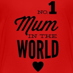no1 mum in the world T-shirts - Premium-T-shirt tonåring