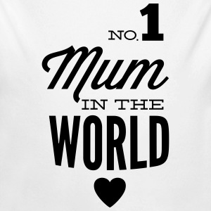 no1 mum in the world Baby body - Baby bio-rompertje met lange mouwen