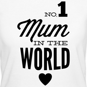 no1 mum in the world T-shirts - Vrouwen Bio-T-shirt