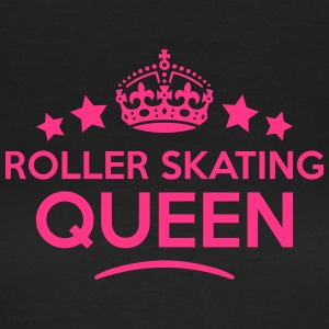 roller skating queen keep calm style cop WOMENS T- - Women's T-Shirt