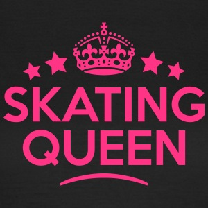 skating queen keep calm style WOMENS T-SHIRT - Women's T-Shirt