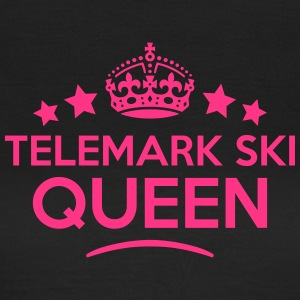 telemark ski queen keep calm style WOMENS T-SHIRT - Women's T-Shirt