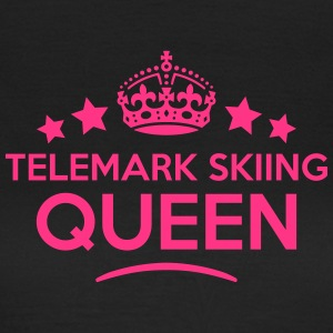 telemark skiing queen keep calm style co WOMENS T- - Women's T-Shirt