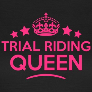 trial riding queen keep calm style WOMENS T-SHIRT - Women's T-Shirt
