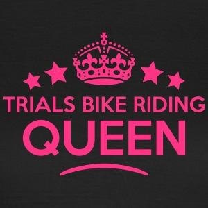 trials bike riding queen keep calm style WOMENS T- - Women's T-Shirt