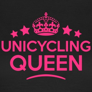 unicycling queen keep calm style WOMENS T-SHIRT - Women's T-Shirt