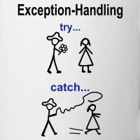 """Nerd T-Shirts mit """"Try-Catch-Java-Code"""""""