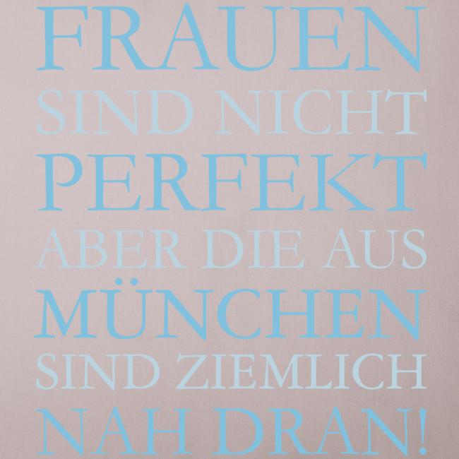 Frauen aus München (Hellblau) Sofakissenbezug