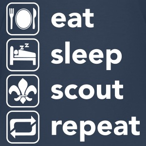 Eat, Sleep, Scout, Repeat T-shirts - Premium-T-shirt tonåring