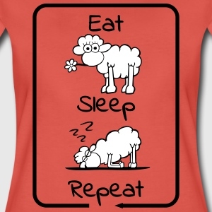 Eat sleep repepeat T-Shirts - Frauen Premium T-Shirt