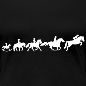 Showjumping Evolution - Ladies - Frauen Premium T-Shirt