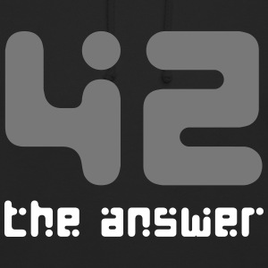 42 the answer Science Fiction Alien UFO Big Bang - Unisex Hoodie