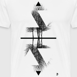 AD Reflection T-shirts - Herre premium T-shirt