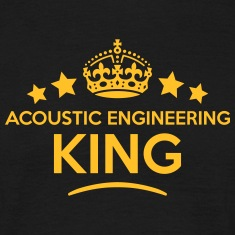acoustic engineering king keep calm styl T-SHIRT