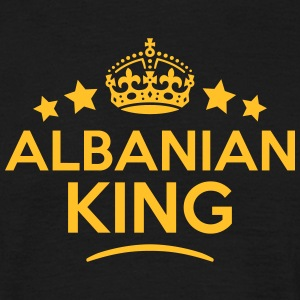 albanian  king keep calm style crown sta T-SHIRT - Men's T-Shirt