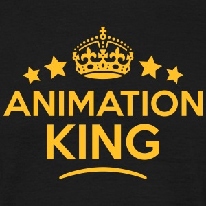animation king keep calm style crown sta T-SHIRT - Men's T-Shirt