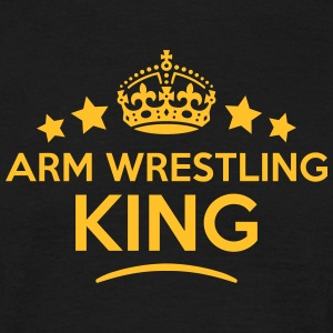 arm wrestling king keep calm style crown T-SHIRT - Men's T-Shirt