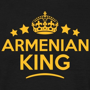 armenian  king keep calm style crown sta T-SHIRT - Men's T-Shirt