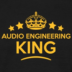 audio engineering king keep calm style c T-SHIRT