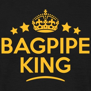 bagpipe king keep calm style crown stars T-SHIRT - Men's T-Shirt