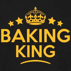 baking king keep calm style crown stars T-SHIRT - Men's T-Shirt