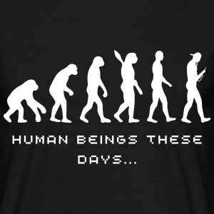 Evolution these days - Männer T-Shirt