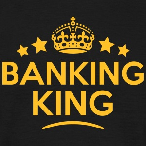 banking king keep calm style crown stars T-SHIRT - Men's T-Shirt