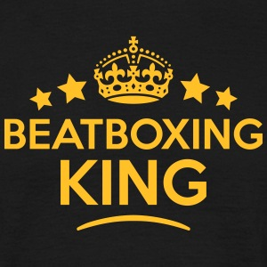 beatboxing king keep calm style crown st T-SHIRT - Men's T-Shirt