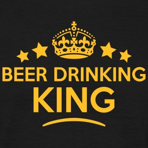 beer drinking king keep calm style crown T-SHIRT - Men's T-Shirt