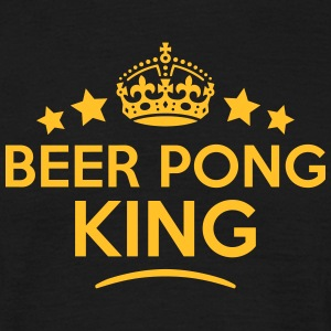 beer pong king keep calm style crown sta T-SHIRT - Men's T-Shirt