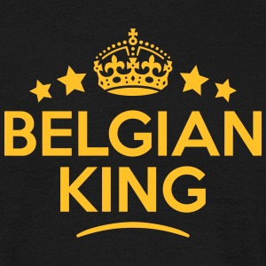 belgian king keep calm style crown stars T-SHIRT - Men's T-Shirt
