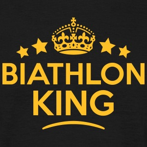 biathlon king keep calm style crown star T-SHIRT - Men's T-Shirt