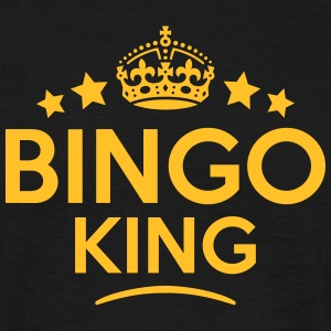 bingo king keep calm style crown stars T-SHIRT - Men's T-Shirt