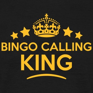 bingo calling king keep calm style crown T-SHIRT - Men's T-Shirt