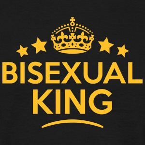 bisexual king keep calm style crown star T-SHIRT - Men's T-Shirt