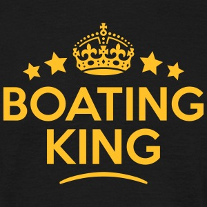 boating king keep calm style crown stars T-SHIRT - Men's T-Shirt