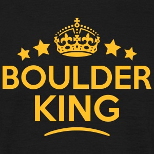 boulder king keep calm style crown stars T-SHIRT - Men's T-Shirt