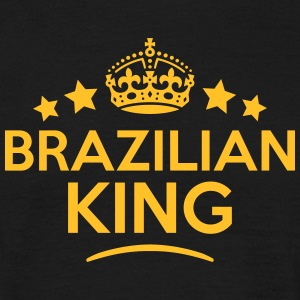 brazilian  king keep calm style crown st T-SHIRT - Men's T-Shirt