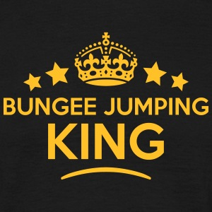 bungee jumping king keep calm style crow T-SHIRT - Men's T-Shirt