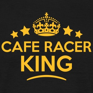 cafe racer king keep calm style crown st T-SHIRT - Men's T-Shirt