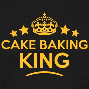 cake baking king keep calm style crown s T-SHIRT - Men's T-Shirt